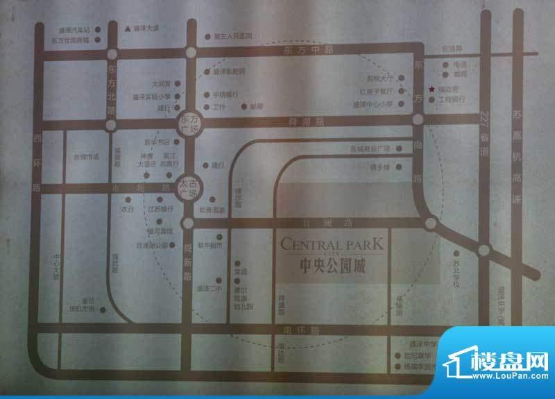 中央公园城交通图