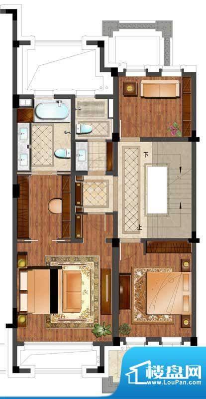 亨通长安府户型图K户型二层 2室