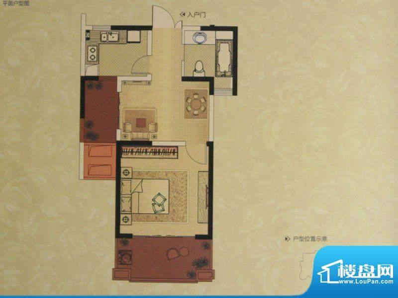 中南世纪城户型图G户型 1室2厅面积:63.00平米