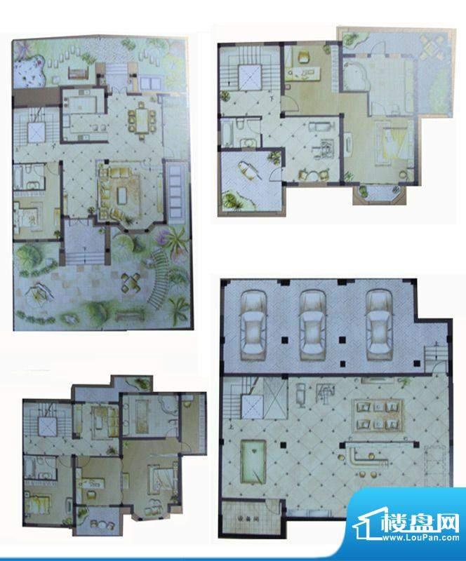 伟业滨河名墅户型图2、4、5、6面积:622.89平米