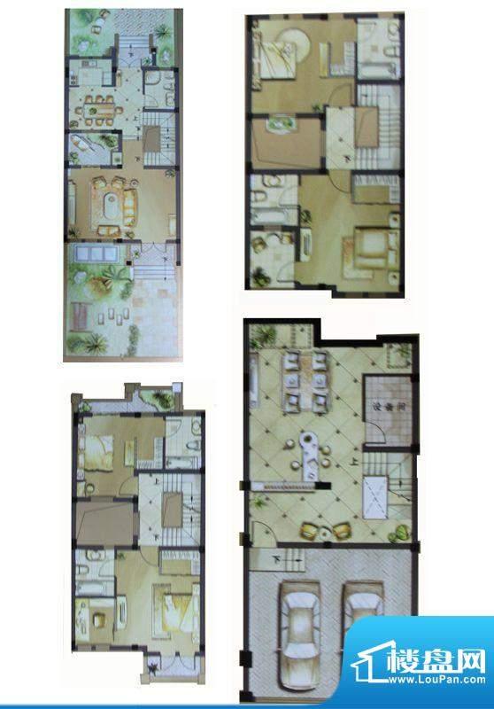 伟业滨河名墅户型图11、18、22面积:347.41平米