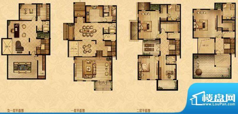 星宝花园户型图一期8-11、16-1面积:298.00平米