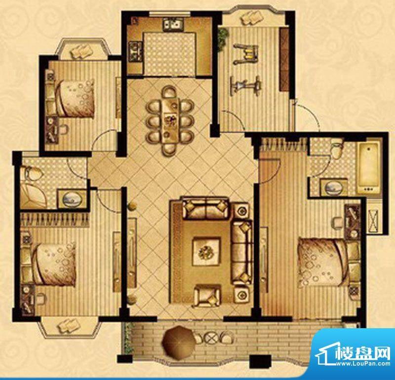 星宝花园户型图一期35、36号楼面积:142.80平米