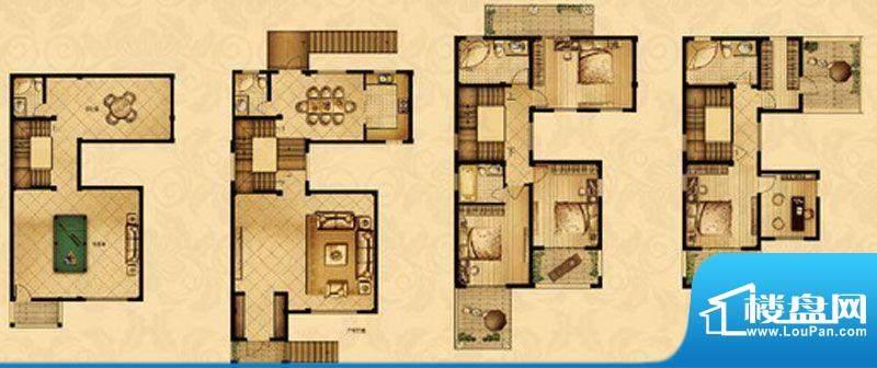 星宝花园户型图一期1-3、5号楼面积:265.00平米