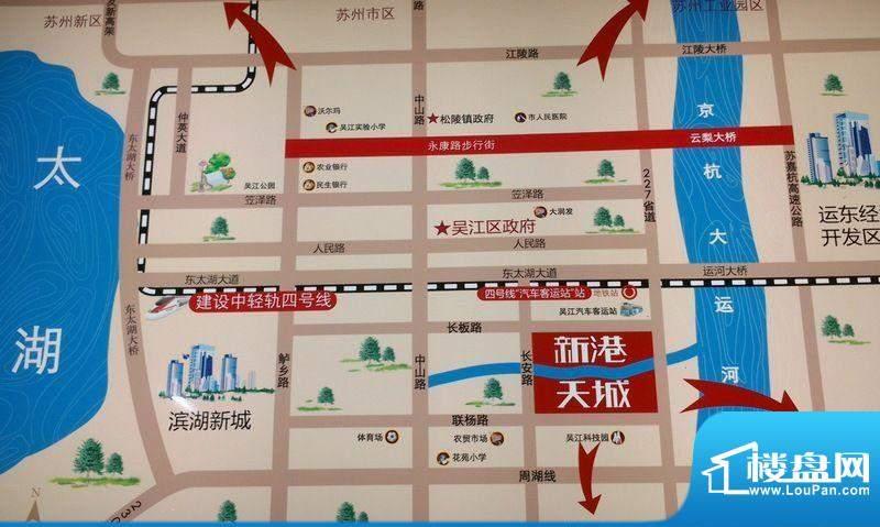 新港天城交通图