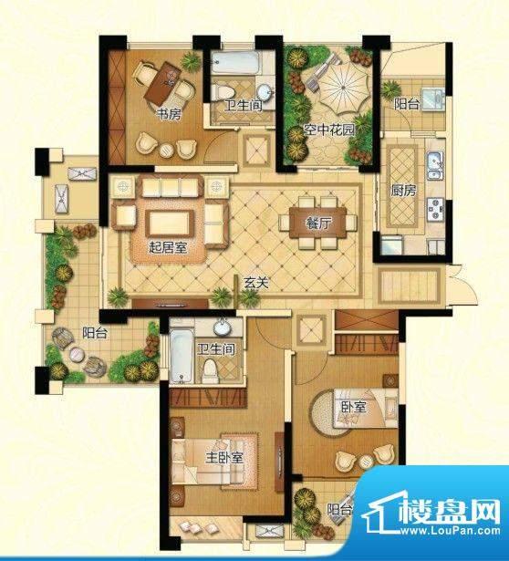 新港天城户型图一期1、11、19#面积:143.53平米