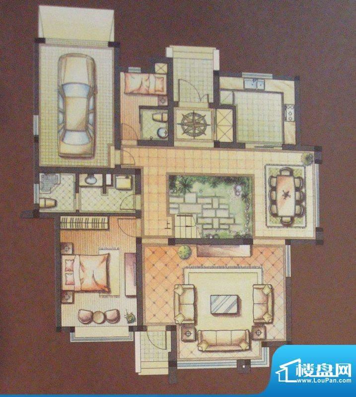 维纳恩湖户型图A户型一层 3室5面积:273.00平米