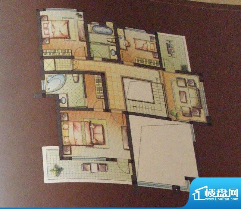 维纳恩湖户型图A户型二层 3室5面积:273.00平米
