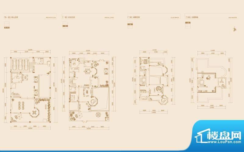金科廊桥水岸户型图一期独栋别面积:620.00平米