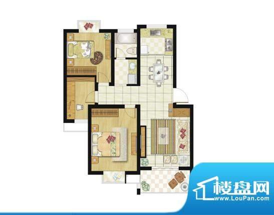格林华城户型图89平米2+1房2厅