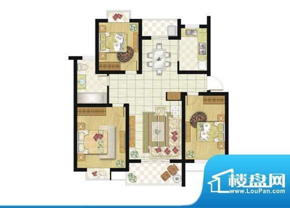 格林华城户型图105平米3室2厅1