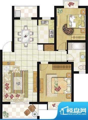 格林华城户型图3#C4户型 2室2厅面积:89.00平米
