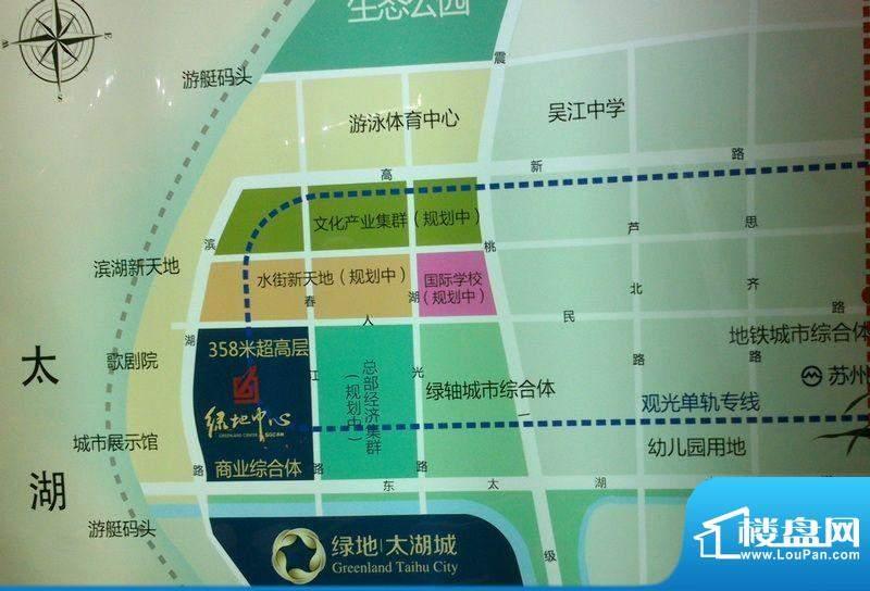 绿地太湖城交通图