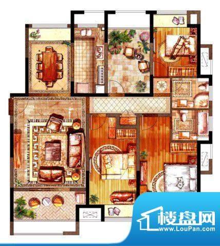 绿地太湖城户型图D户型图 3室2面积:143.00平米