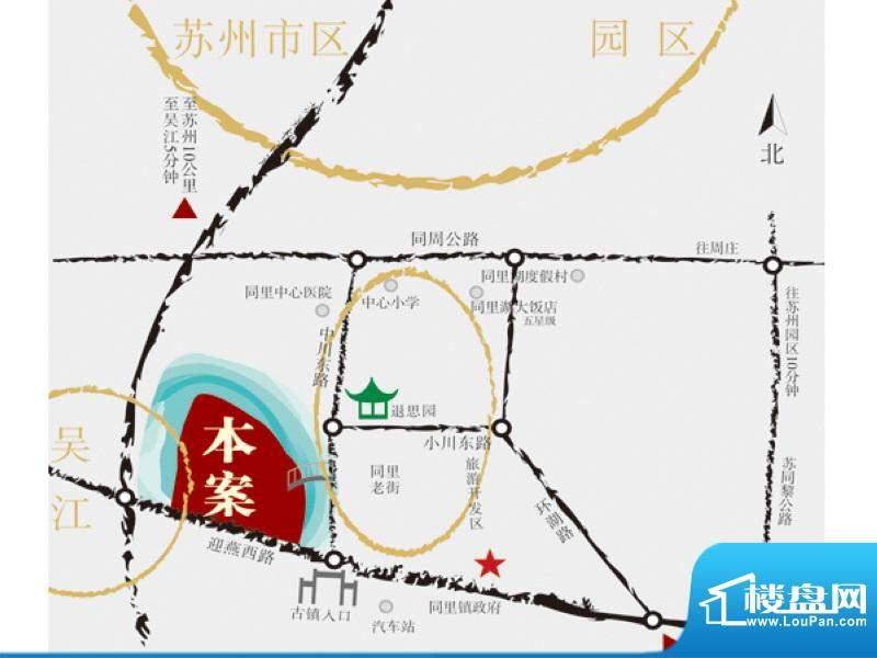 同里花园交通图