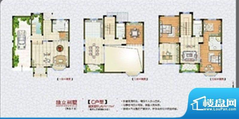 同里花园户型图C户型 4室3厅4卫面积:340.00平米