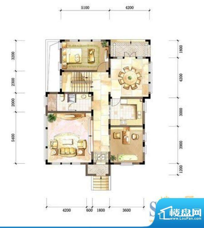 中粮本源户型图小独栋别墅SFD-面积:260.00平米