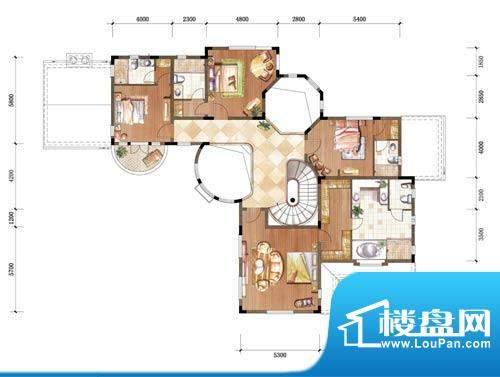 中粮本源户型图大独栋地上二层面积:390.00平米