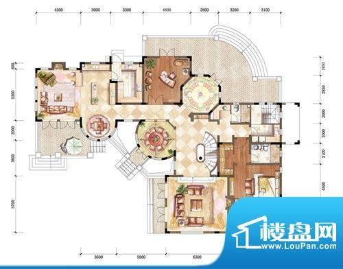 中粮本源户型图大独栋地上一层面积:390.00平米