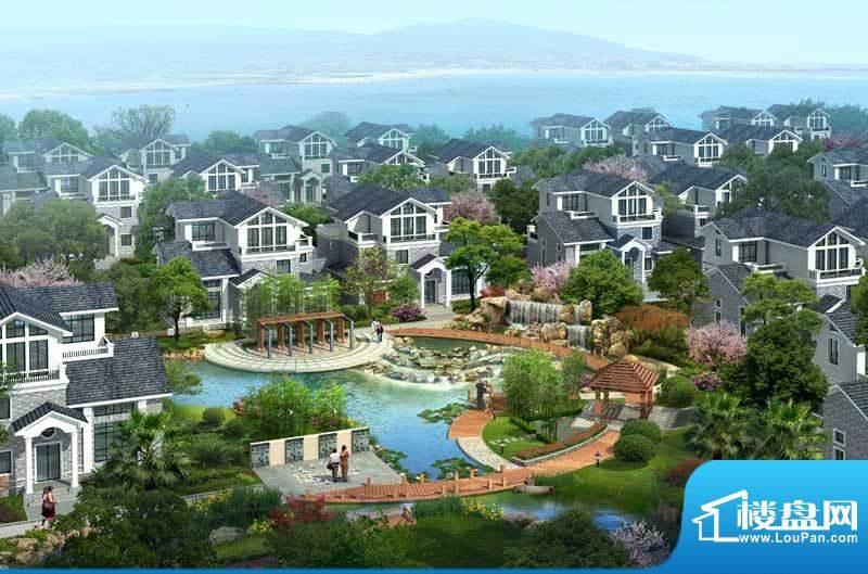 太湖如意湾·怡景花园效果图小区景观带
