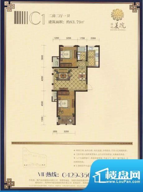 滨城美院户型图c1 面积:0.00m平米