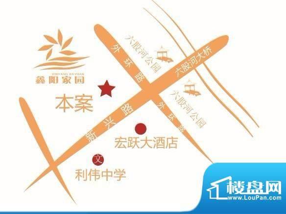 鑫阳家园交通图
