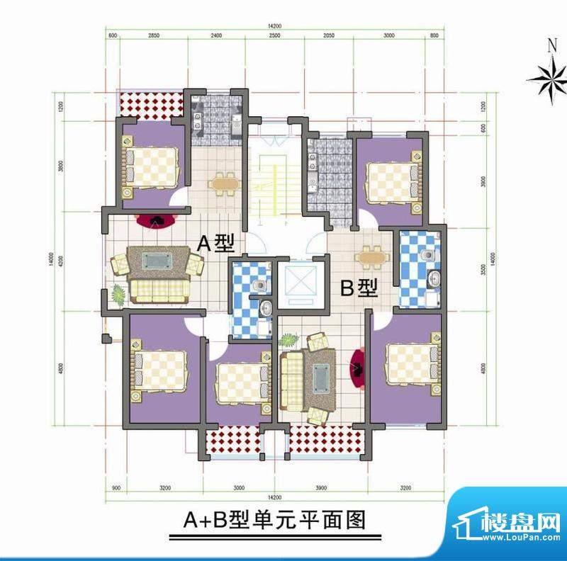 鑫阳家园A B型单元平面积:0.00m平米