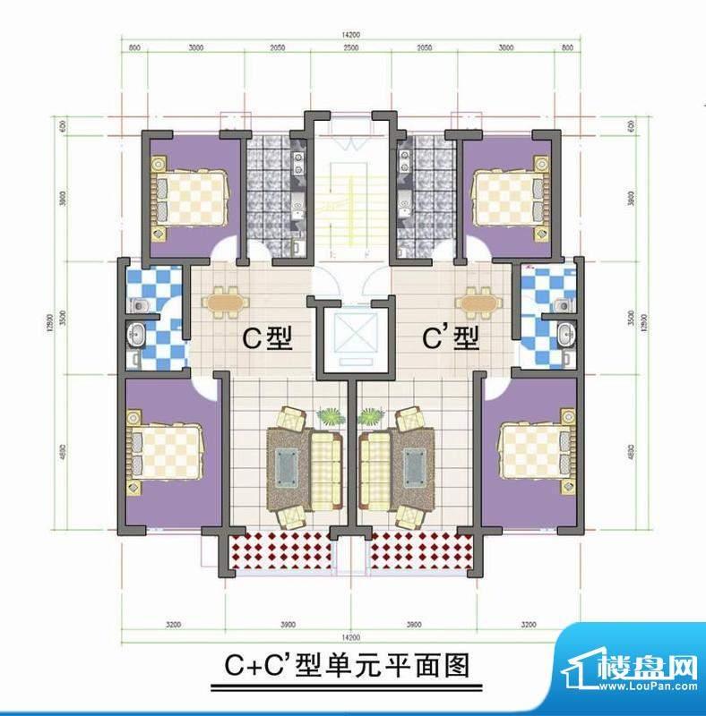 鑫阳家园C C型单元平面积:0.00m平米