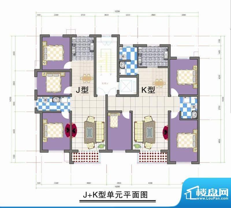 鑫阳家园J K型单元平面积:0.00m平米