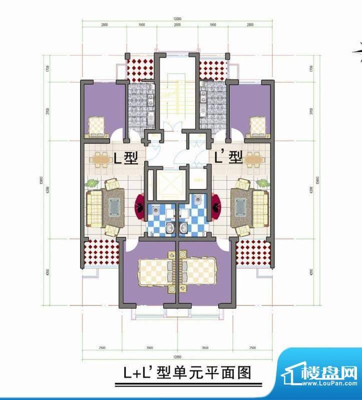 鑫阳家园L L型单元平面积:0.00m平米