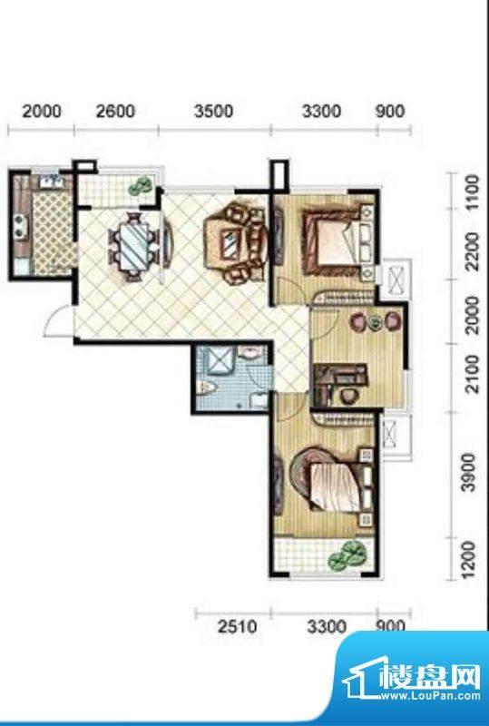 骞亿·上东盛景两室面积:0.00m平米