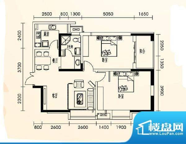 乐都汇公馆13户型 2面积:0.00m平米