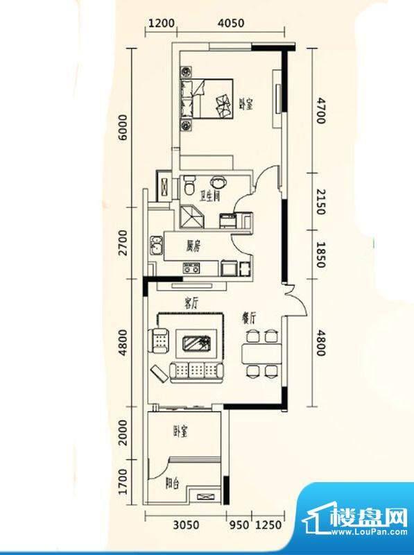 乐都汇公馆10户型 2面积:0.00m平米