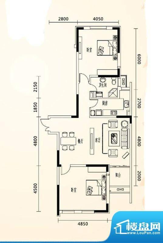 乐都汇公馆11户型 2面积:0.00m平米