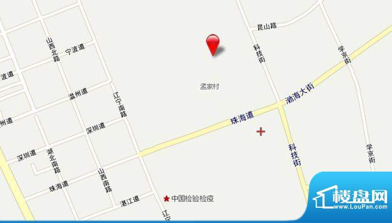 渤海玉园交通图