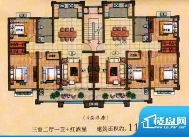 蓝钻庄园户型图 面积:0.00m平米