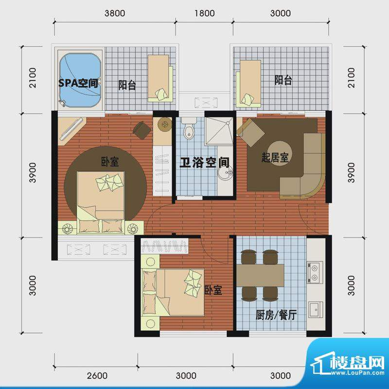 天沐温泉谷二期私人面积:66.00m平米