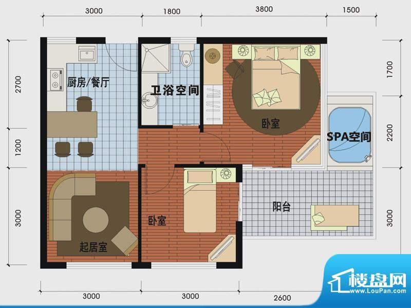 天沐温泉谷二期私人面积:65.00m平米