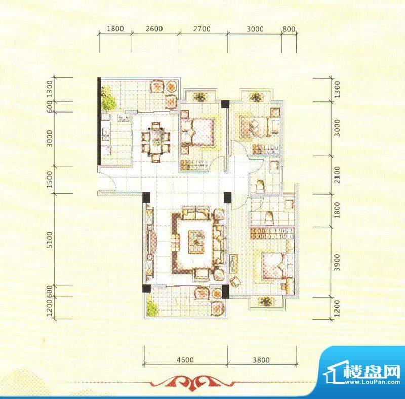 锦绣边城面积:118.00m平米