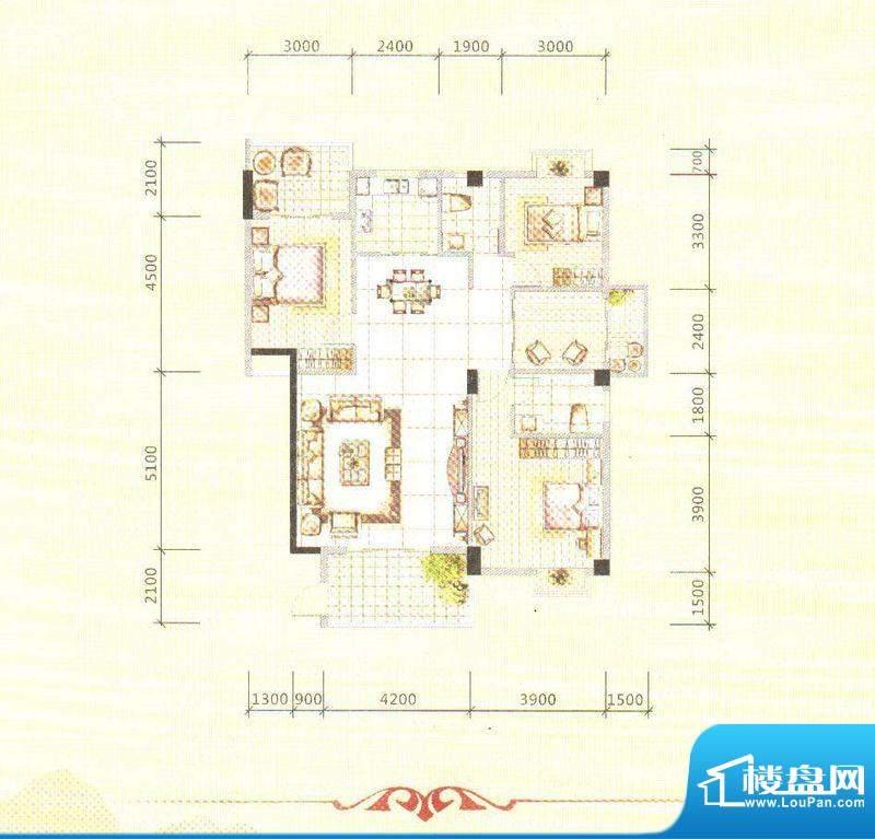 锦绣边城面积:130.00m平米