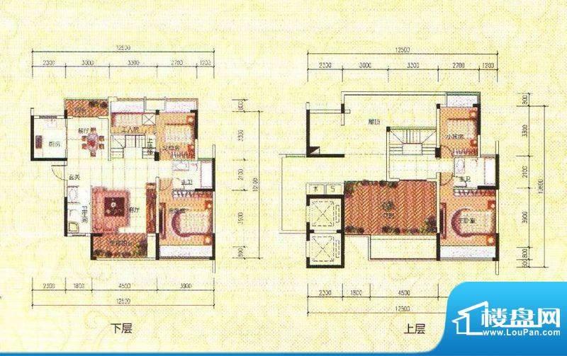 鑫成君泰复式 5室2厅面积:176.00m平米