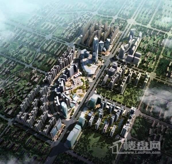 防城港中央商务区CBD效果图