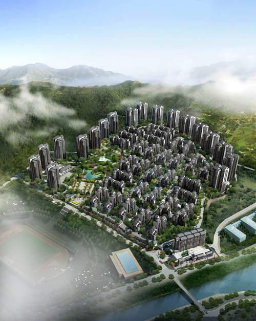 隆鑫花漾城 效果图