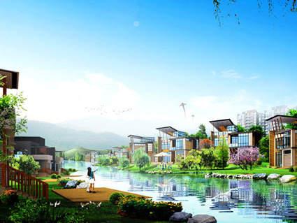 青竹湖太阳星城效果图