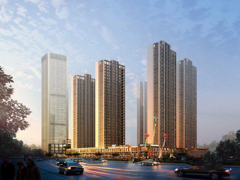 宝利国际广场云观公寓效果图