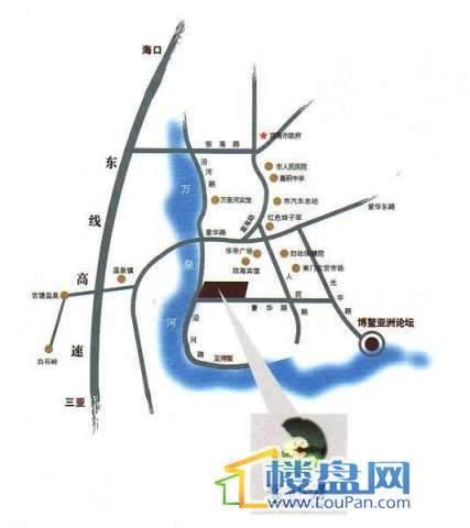 鳌泉仙居实景图