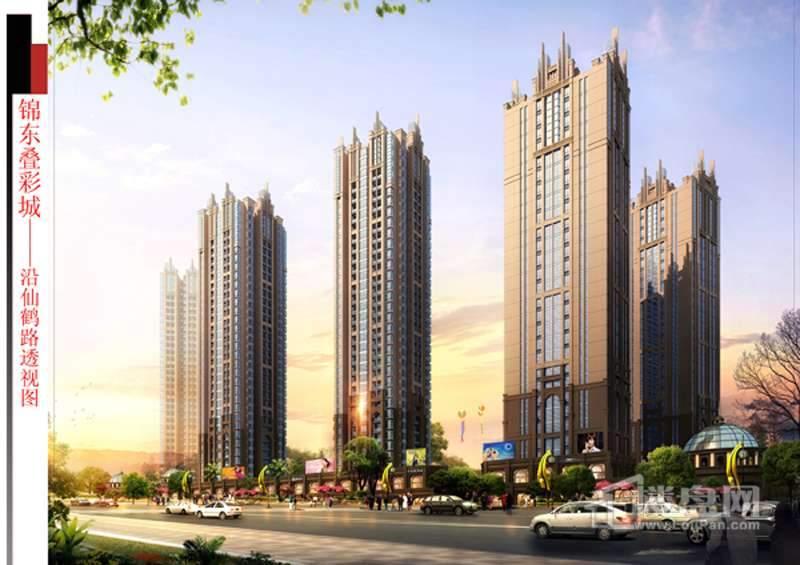 锦东叠彩城实景图
