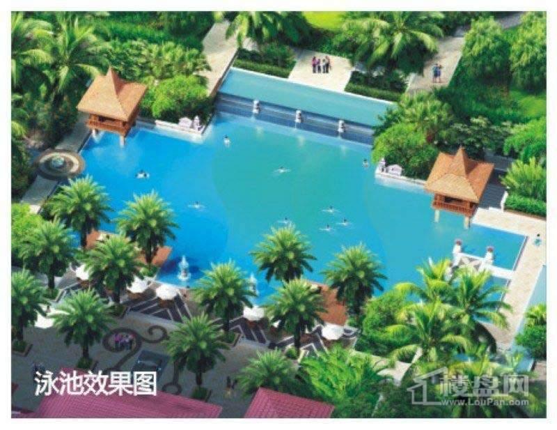 后海温泉小镇实景图