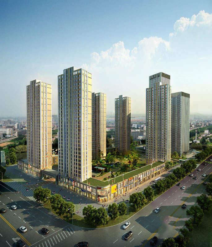 宝利国际广场云观公寓实景图