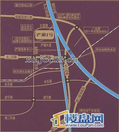 浐灞1号交通图